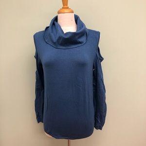 Buffalo Cold Shouder Cowlneck Shirt (PM428)